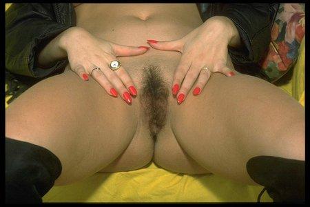 haarige Vulva